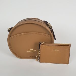NWT Coach Canteen Leather Crossbody Brown + Wallet